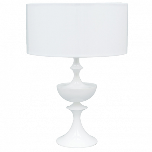 Malmbergs Lorenzo, Stor bordlampe i Pianolakk og hvitt kunstskinn